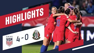 USA 4-0 MEXICO Olympic Qualifier Highlights | Feb. 7, 2020 | Carson, CA - Dignity Health Sports Park
