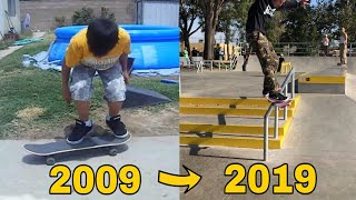 My 10 Years Of Skateboarding Progression!