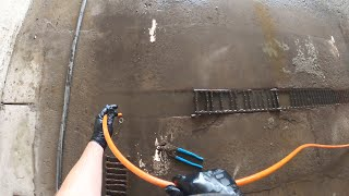 Filled Trench Drain Blockage - Drain Pros Ep. 71