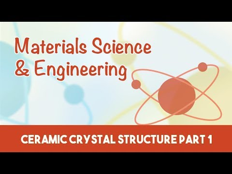 AMIE Exam Lectures- Materials Science & Engineering | Ceramic Crystal Structure | 3.3 Part1