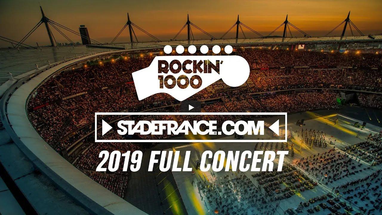 Download Rockin'1000 full concert at Stade de France, Paris 2019