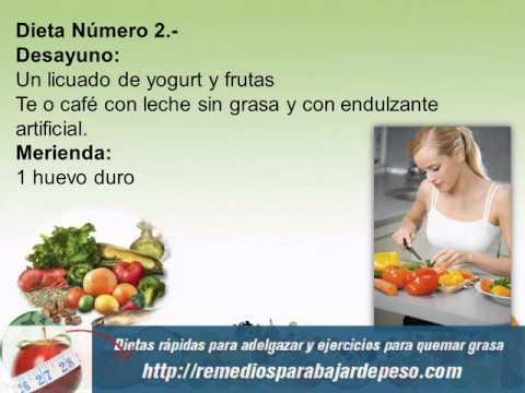 Dietas para bajar de peso rapidas y seguras