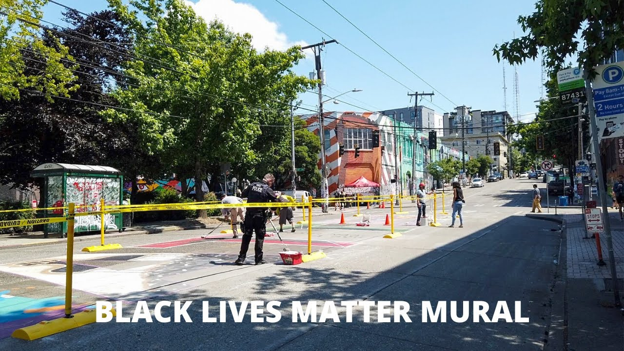What's Happening To The BLACK LIVES MATTER Mural In CAPITOL HILL? |  SEATTLE Slow Walk Sunday