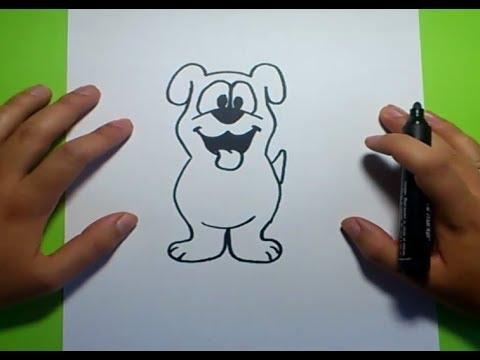 Como dibujar un perro paso a paso 19  How to draw a dog 19  YouTube