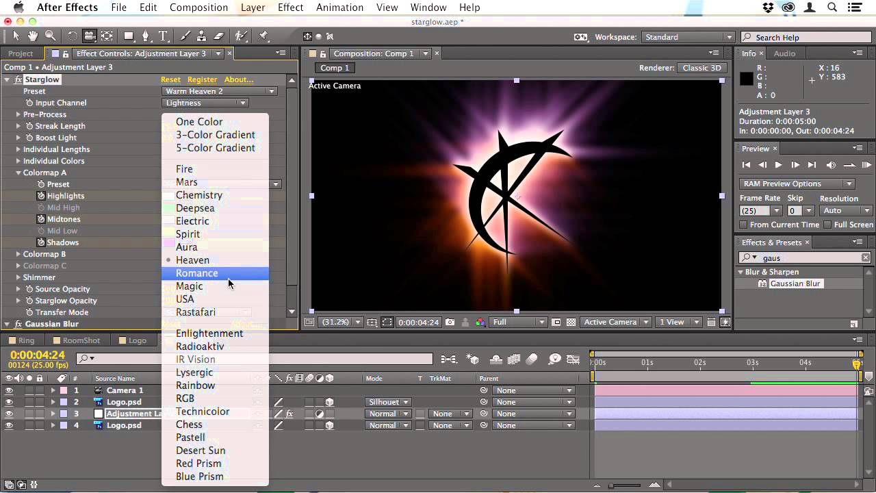The Starglow Plug-In for After Effects CS3