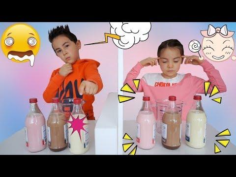 Twin Telepathy Milkshake Challenge! Bruder vs. Schwester |  Level 2  | Johann Loop