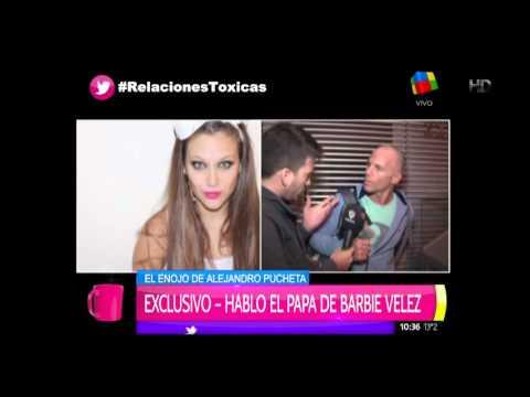 """Alejandro Pucheta, papá de Barbie Vélez: """"Si veo un moretón en mi hija, te puedo cortar el cuello"""""""
