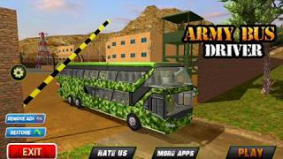 Army Bus Driving 2017 Military Coach Transporter Android Gameplay