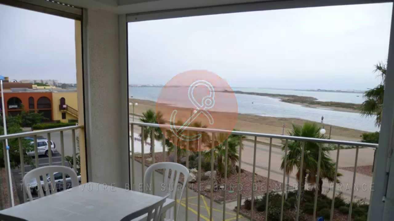 a vendre appartement vue mer t2 gruissan plage grazel 11430 youtube. Black Bedroom Furniture Sets. Home Design Ideas