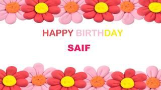 Saif   Birthday Postcards & Postales - Happy Birthday