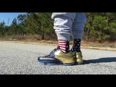 236c4522d1e1 KD 7 PREMIUM  GOLD MEDAL  REVIEW AND ON FEET!!! - YouTube