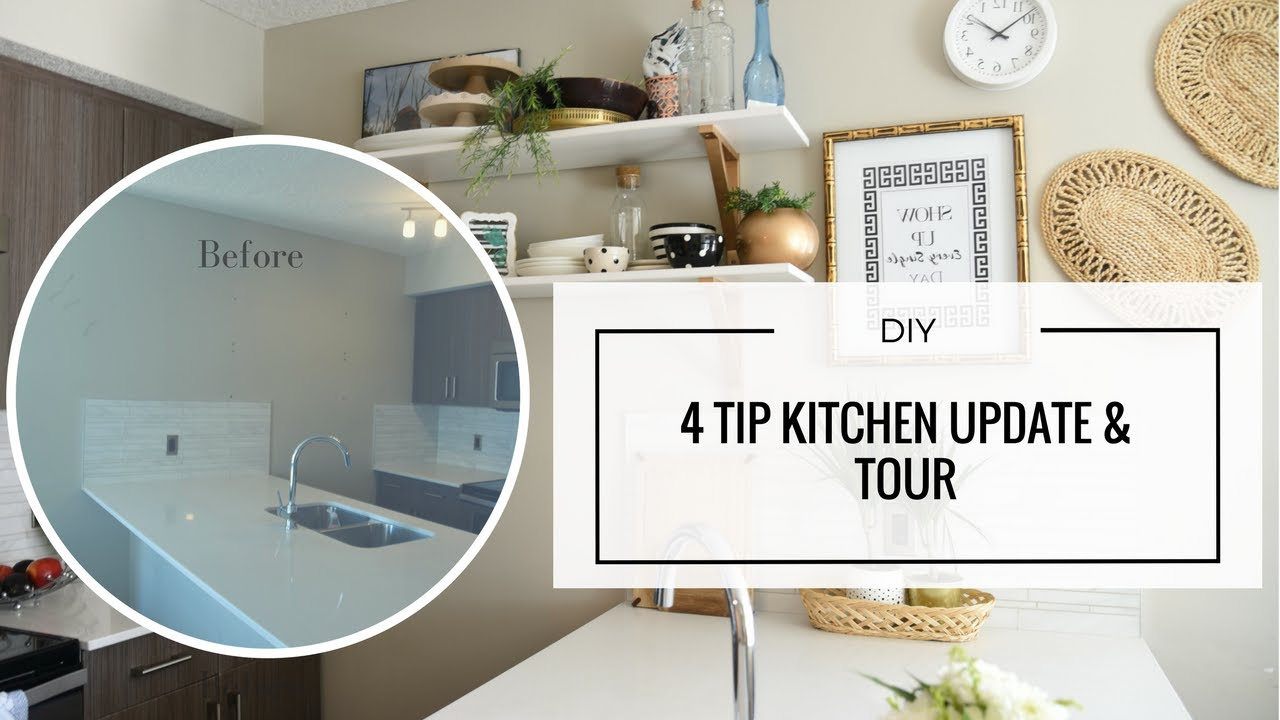 DIY - Easy Rental Kitchen Update for a Pinterest Worthy Reveal - YouTube