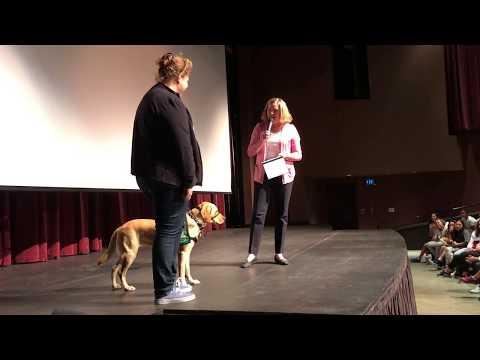 Cinta the Guide Dog graduates from Westridge School