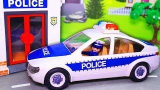 видео для детей с игрушками Плеймобил – Команда! Новые мультфильмы про машинки