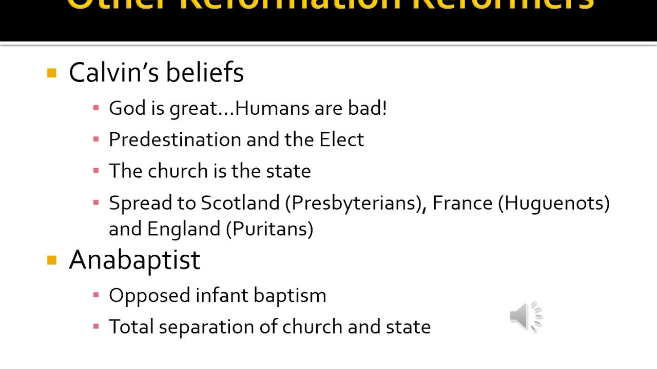 Unit 2-Reformation & Religious Wars Review Video