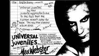 Watch Max Webster Juveniles Dont Stop video