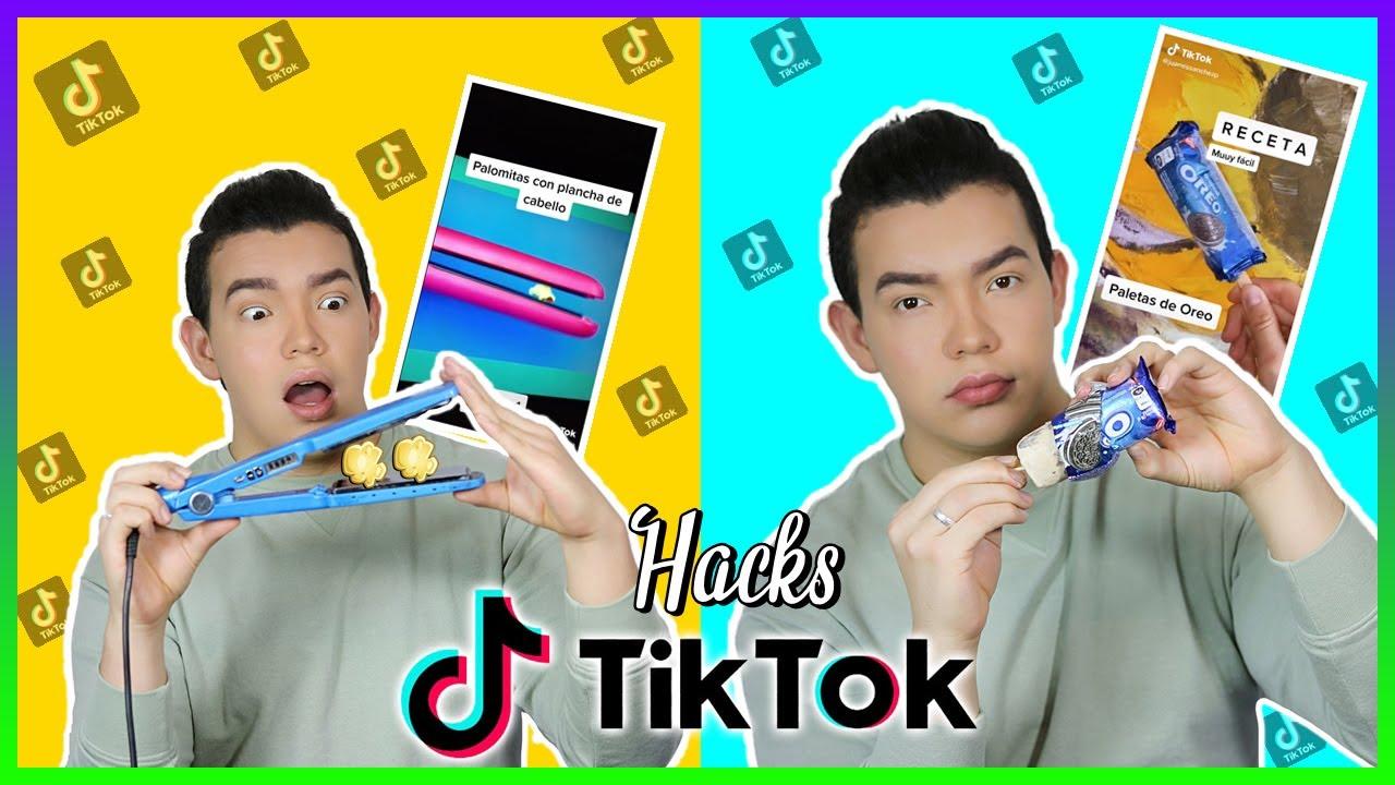 Probando LIFE HACKS VIRALES de TIK TOK