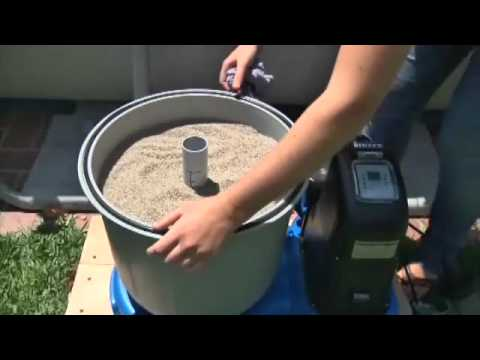 The filter for the pool with hands made - YouTube
