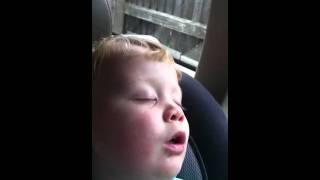 Loud snoring child