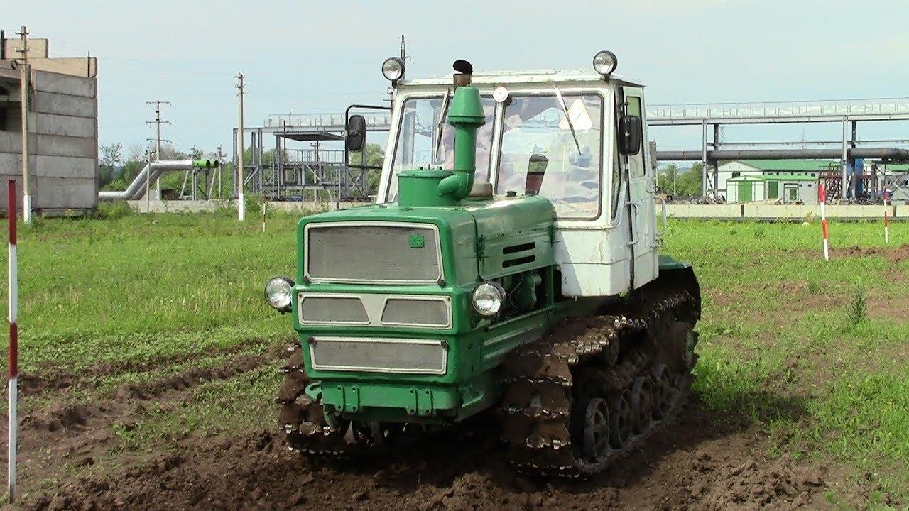 Гусеничный трактор Т-150 1983 года, запуск двигателя и ...