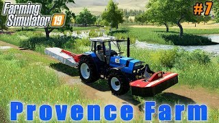 Picking Straw Bales Mowing And Windrowing Grass Farmer Weekdays In Provence FS19 Ep 07