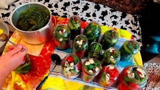 Маринованные огурцы и помидоры с чесноком. Обалденный рецепт.