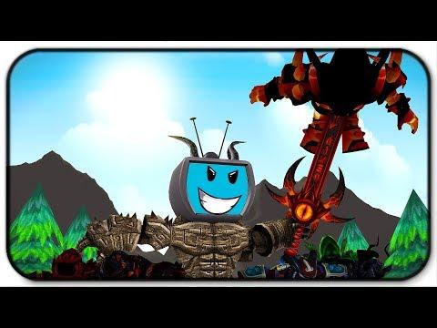 Destroying All The Titans - Roblox Titan Simulator