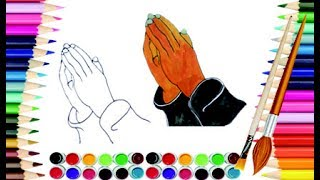 How to draw praying hands | Pray hands | Learning draw & color