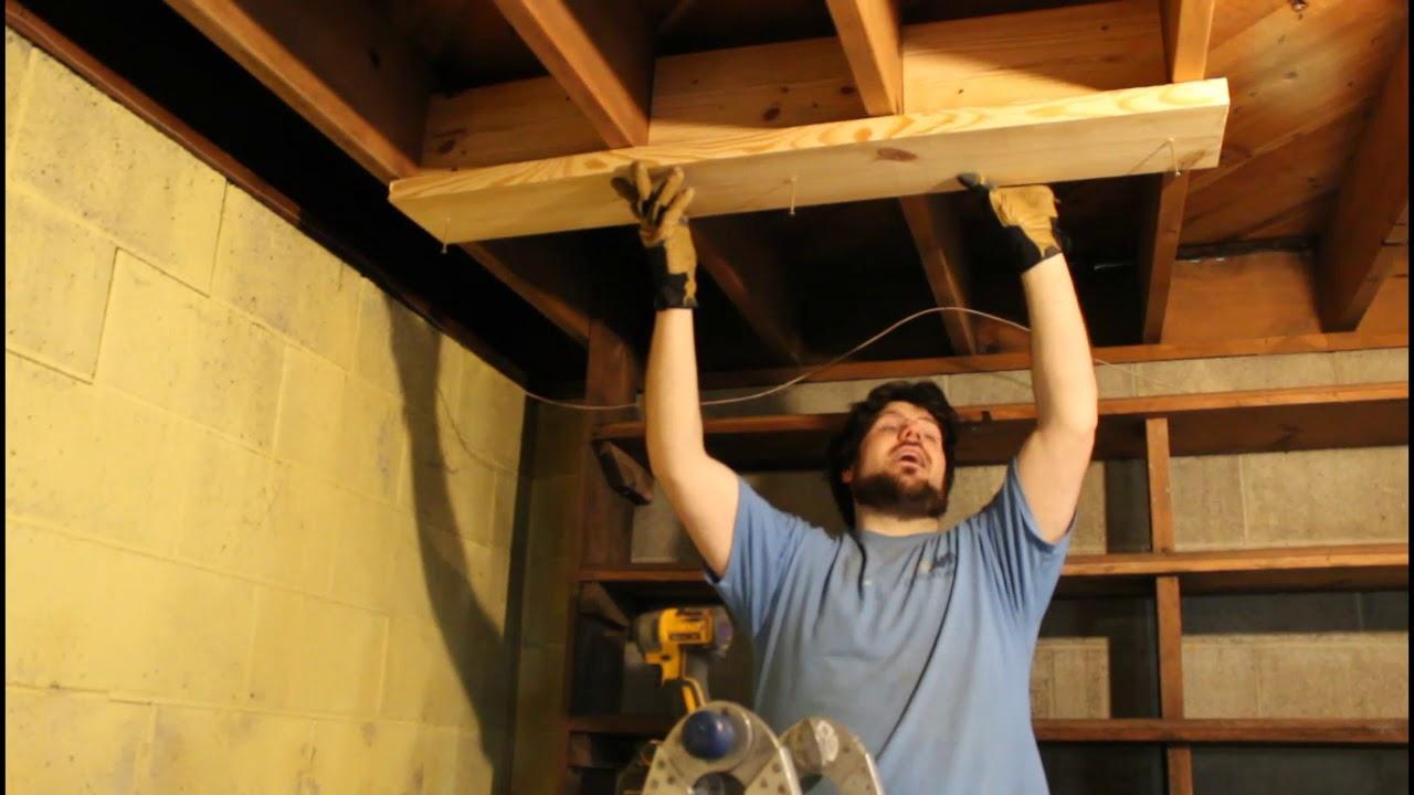 Bowing Basement Walls - I-beam Installation