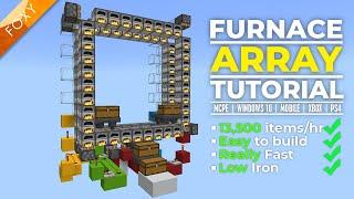 Minecraft Bedrock: BEST FURNACE ARRAY | 13.5k items / hr | MCPE Xbox PC PS4 Switch