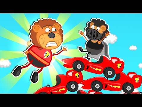 Lion Family Official Channel | Ride On Toy Sport Car | Cartoon For Kids