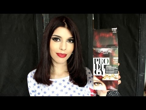 test loral prodigy 460 rouge carmin coloration - Coloration Cheveux Noir Reflet Rouge
