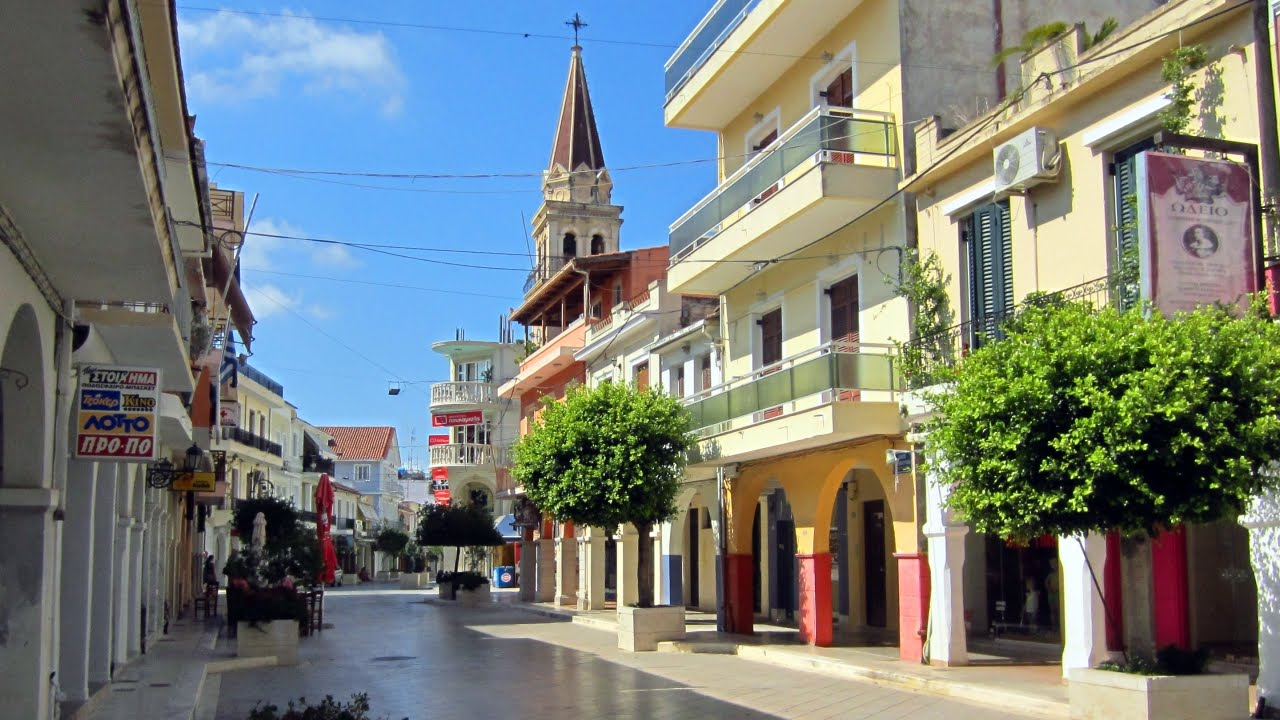 Zakynthos Town - Greece - YouTube