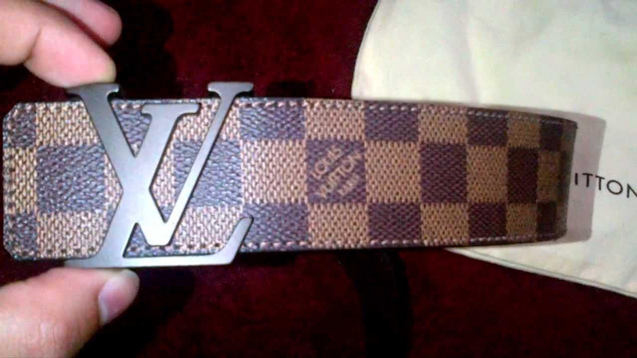 550253e95812 Louis Vuitton Belt Review Damier Ebene Authentic - YouTube