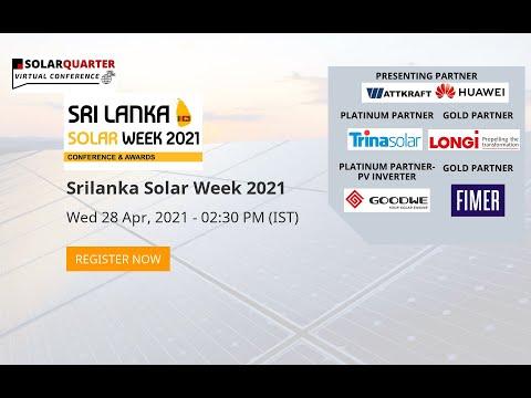 Srilanka Solar Week 2021 Conference & Awards