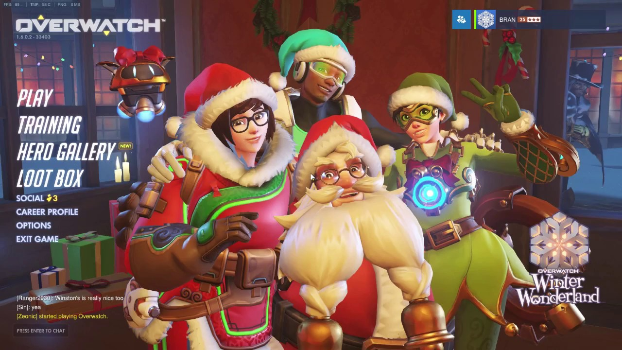 Overwatch Christmas Skins/Emotes/Highlights 2016! - YouTube