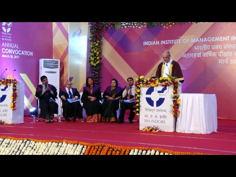 Convocation 2017: Address by Professor Srikant Datar