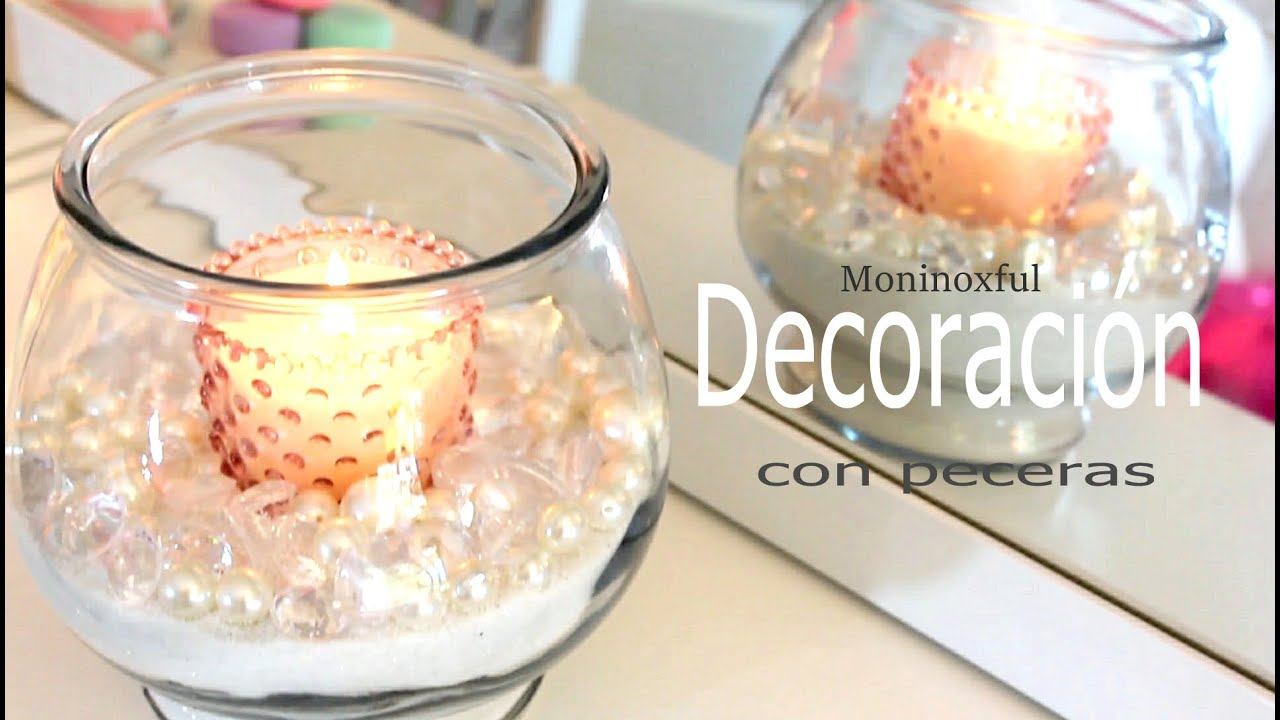 Tres ideas para decorar con una pecera youtube for Centros de mesa con peceras