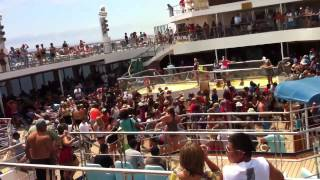 Deck Party On The Carnival Conquest