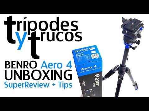 Trípodes, tips y trucos Benro Aero 4 Unboxing & Review español