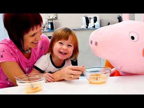 Бьянка и Свинка Пеппа - суп с буквами от Маши Капуки