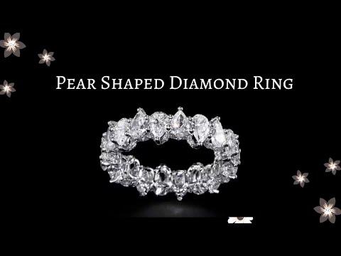 Pear shape diamond ring | This diamond ring is amazing | Pear shape