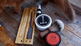 335.2 Опасная бритва клин 308, мыло Денис Одесса, барсук ММ, АШ зелёный Proraso #homelike, #бритьё