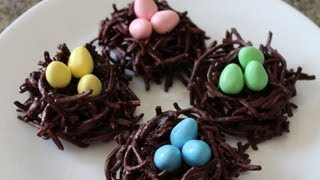 ✦ Chocolate Bird's Nest Haystacks For Easter ✦  チョコ鳥の巣  초콜릿 새 둥지 Noshing With Paris