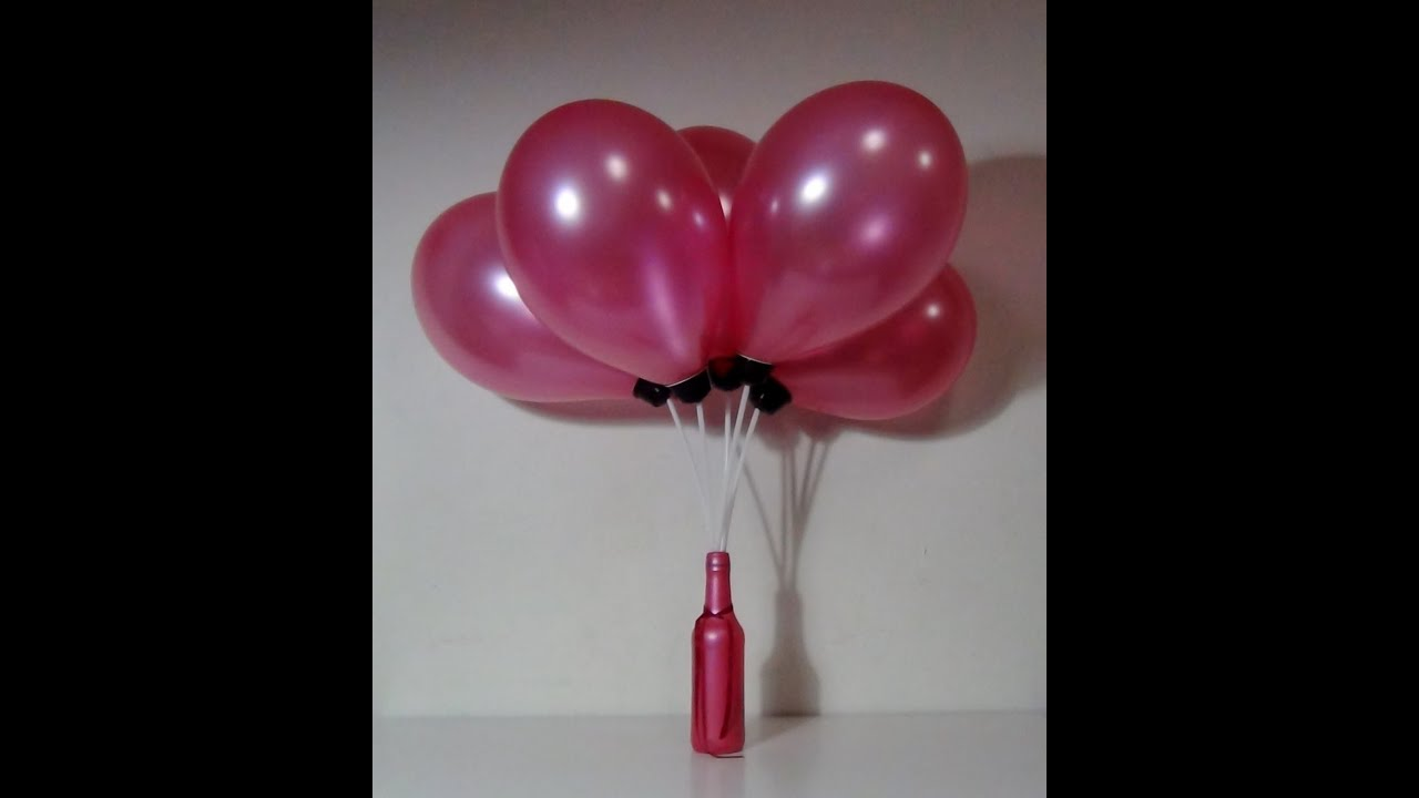 Botella De Cristal Reciclada Con Globos Glass Bottle Recycled With Balloons Youtube