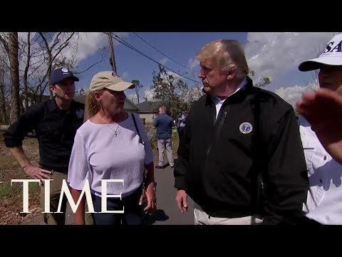 President Trump Marvels At Hurricane Michael Damage In Florida | TIME