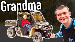 147 Year Old GRANDMA Reacts to 2021 Can-Am Defender! (MAMMY)