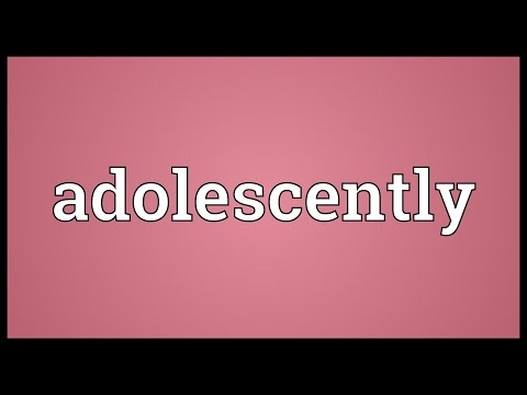 Header of adolescently