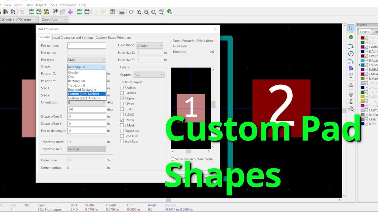 KiCad 5 0 - Custom Pad Shapes