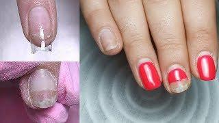 Преображение ногтей. Эксперимент наращивание ногтей базой. Виктория Авдеева